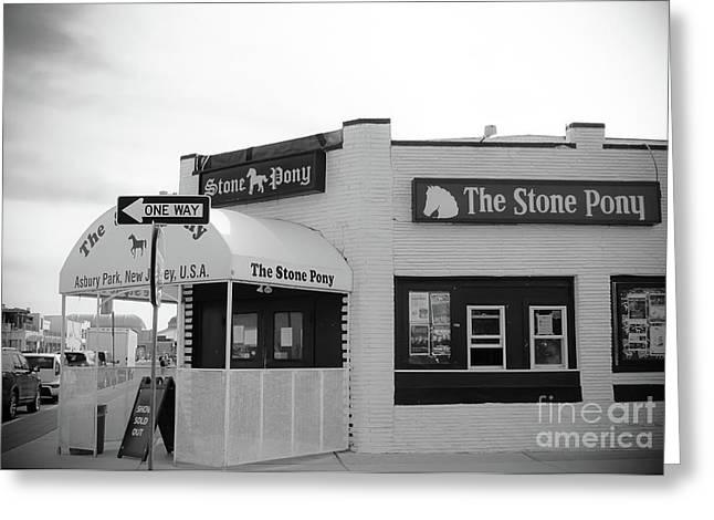 The Stone Pony - One Way Greeting Card by Colleen Kammerer