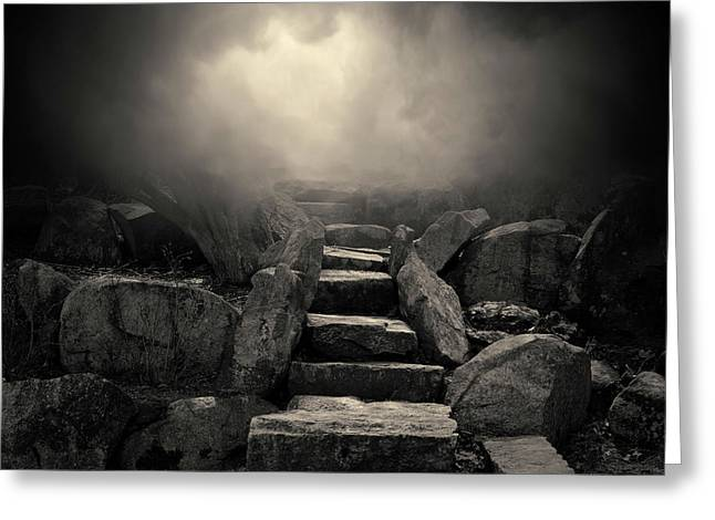 The Stone Steps I Toned Greeting Card