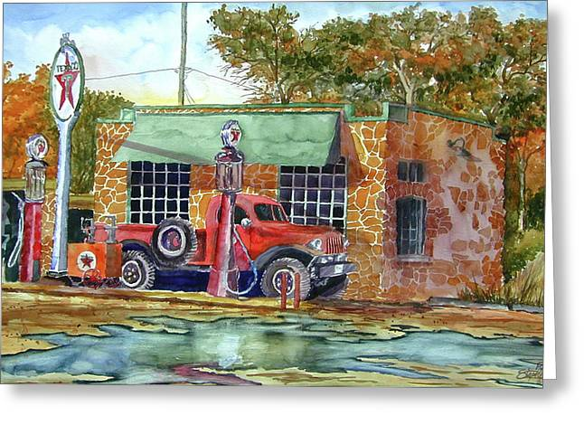 The Stone Texaco Greeting Card by Ron Stephens