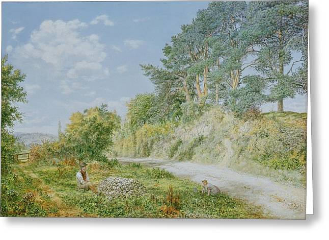 The Stonebreaker Greeting Card by George William Mote