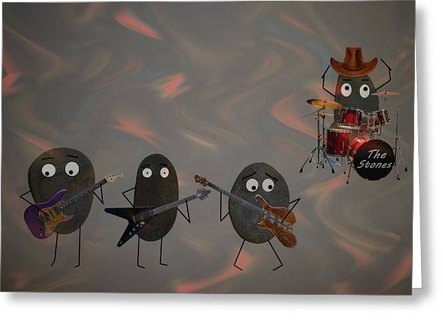 Greeting Card featuring the digital art The Stones by David Dehner