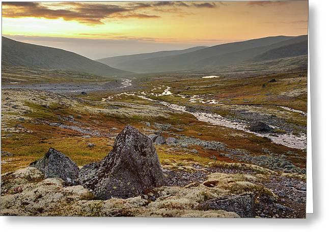 The Stones Greeting Card by Konstantin Dikovsky