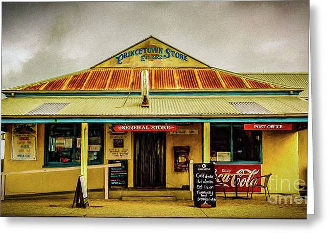 Greeting Card featuring the photograph The Store by Perry Webster