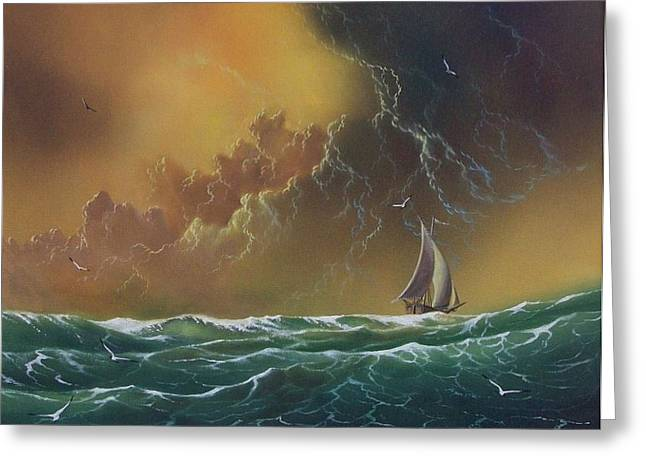 The Storm Greeting Card by Don Griffiths