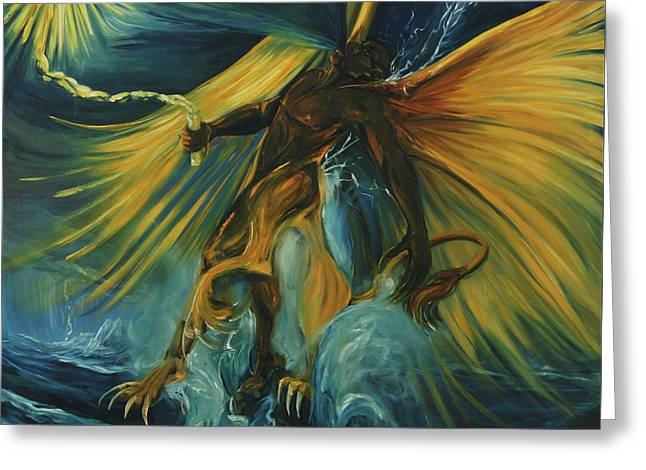 The Storm Eater Greeting Card by Jennifer Christenson