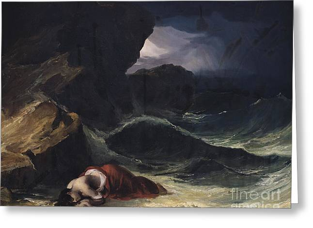 The Storm Or The Shipwreck Greeting Card