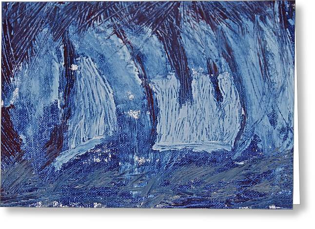 Greeting Card featuring the painting The Storm by Xn Tyler
