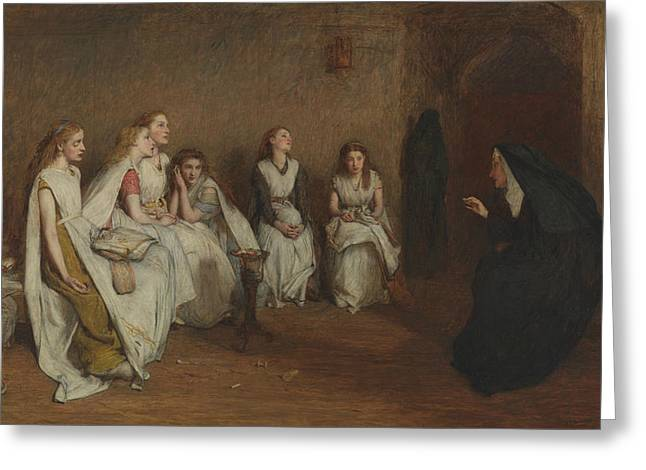 The Story Of A Life Greeting Card by William Quiller Orchardson