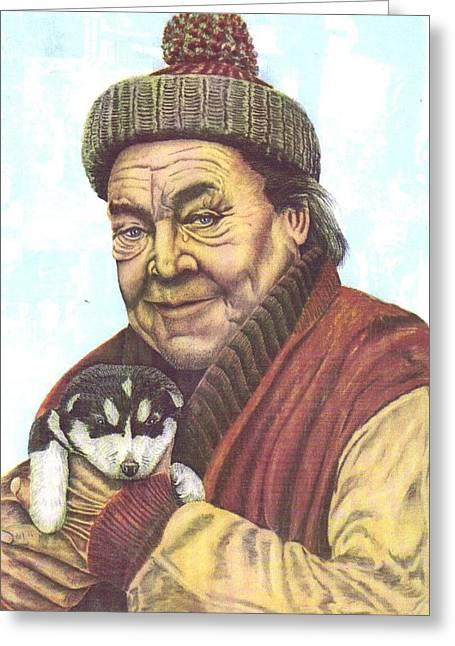 The Story Teller Greeting Card by Richard Van Order