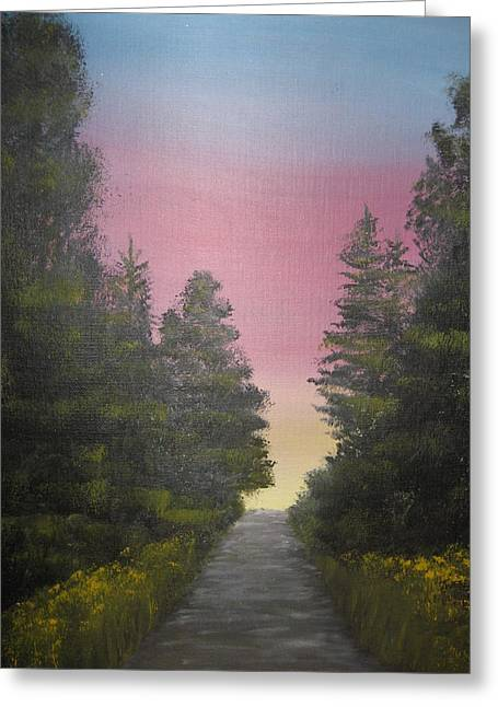 The Straight And Narrow Path Greeting Card by Terri Warner