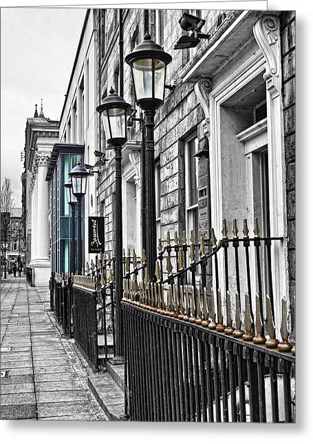 Selective Colouring Greeting Cards - The Street Greeting Card by Chris Cardwell