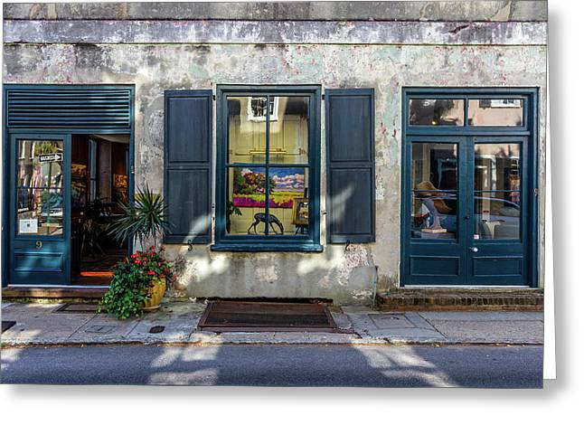 The Streets Of Charleston Greeting Card