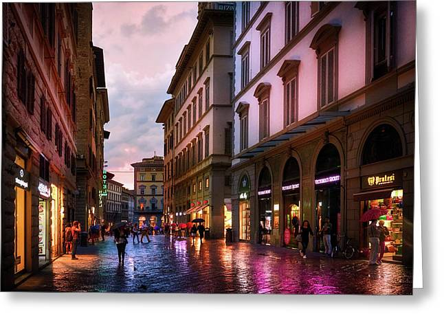 The Streets Of Florence Greeting Card