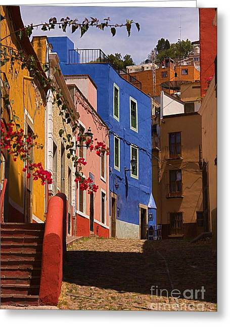 The Streets Of Guanajuato Greeting Card