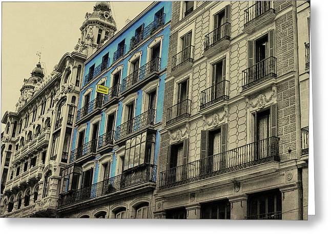 The Streets Of Toledo Greeting Card by JAMART Photography