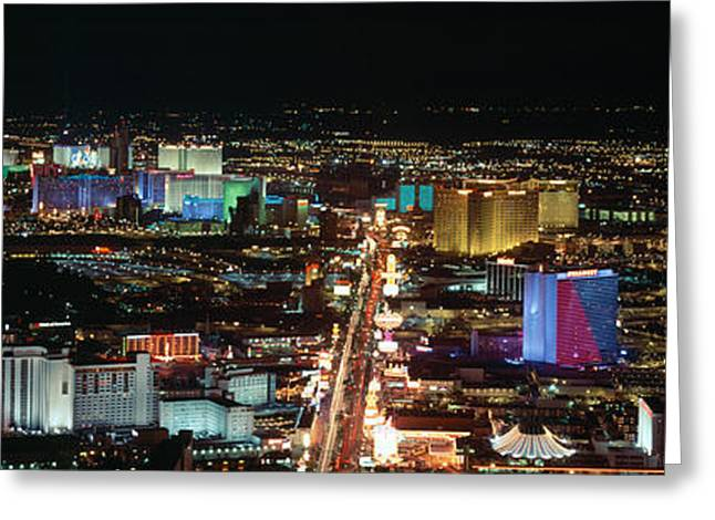 The Strip At Las Vegas,nevada Greeting Card by Panoramic Images