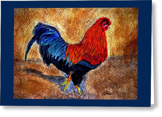 The Strut Greeting Card by Angela Davies
