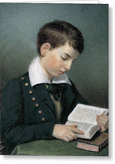 The Studious Youth. Master Edward Appleton Greeting Card