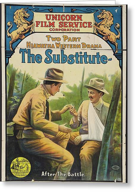 The Substitute 1916 Greeting Card by Mountain Dreams