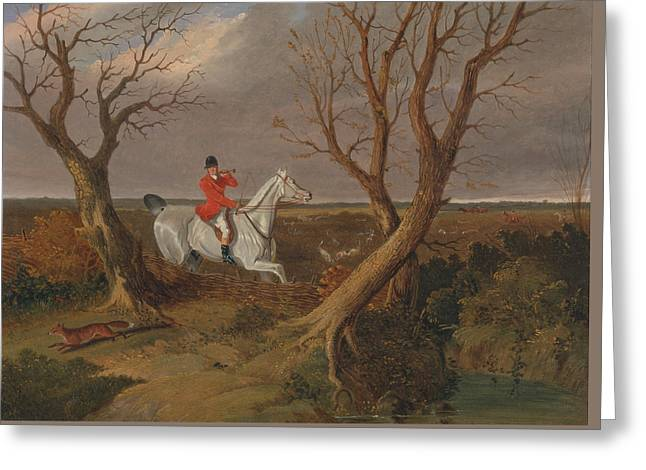 The Suffolk Hunt Gone Away Greeting Card