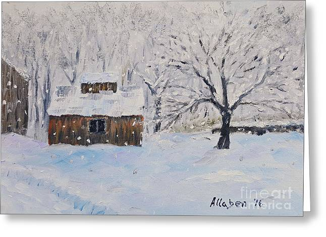 The Sugar House Greeting Card by Stanton Allaben