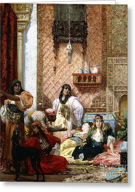 The Sultan's Favorites, 1875  Greeting Card by Georges Clairin
