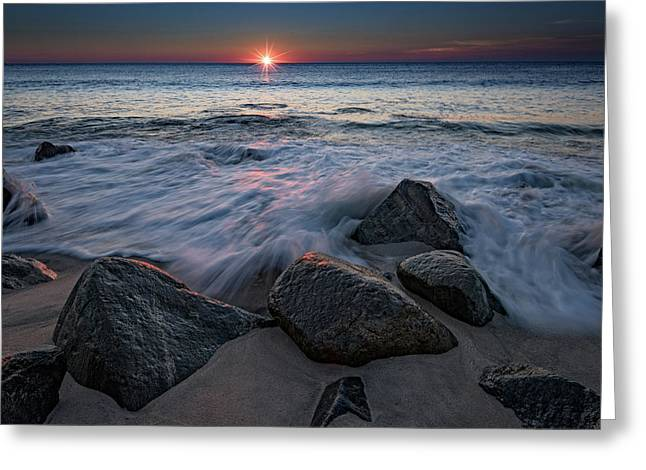The Sun And The Tide Greeting Card by Rick Berk