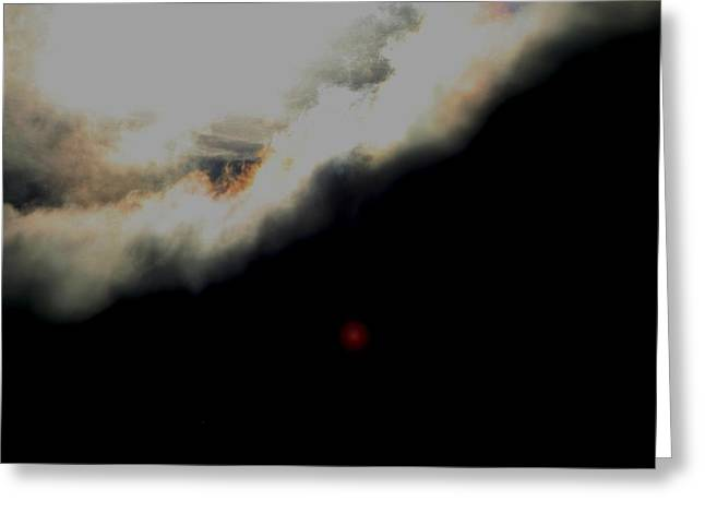 The Sun Behind The Cloud  1 Greeting Card by Paul SEQUENCE Ferguson             sequence dot net