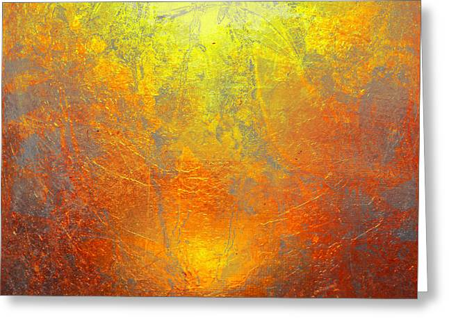The Sun Greeting Card by Contemporary Art