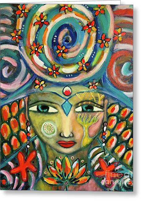 The Sun Goddess  Greeting Card