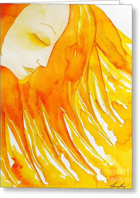 The Sun Goddess Greeting Card by Jean Fry