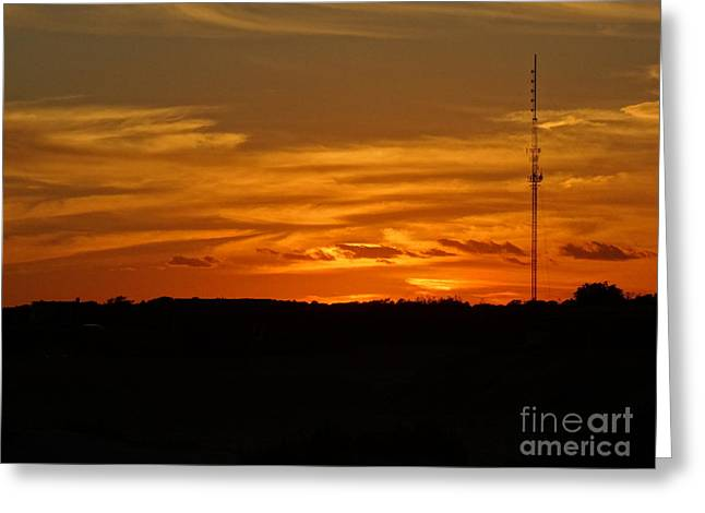 The Sun Has Set In Cape Cod Greeting Card by Gina Sullivan
