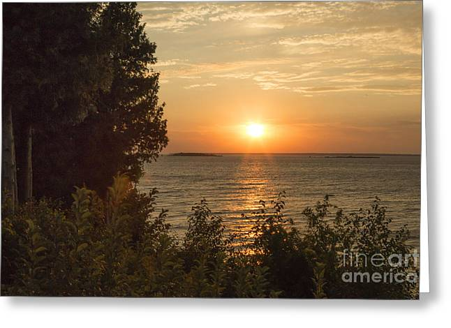 The Sun Is Setting Greeting Card