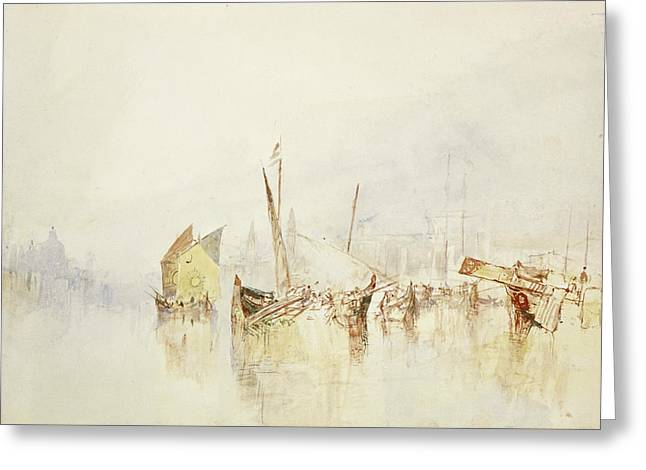 The Sun Of Venice Greeting Card by Joseph Mallord William Turner
