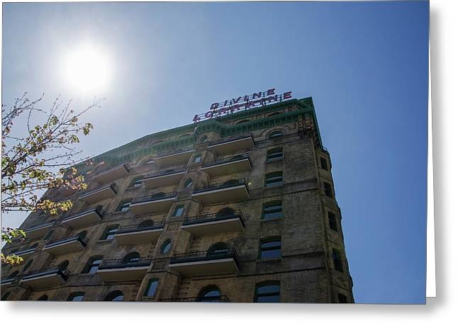 The Sun Rises On A New Day - Divine Lorraine Hotel Greeting Card