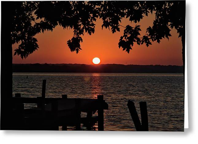 Greeting Card featuring the photograph The Sun Rises Over The Bay by Mark Dodd