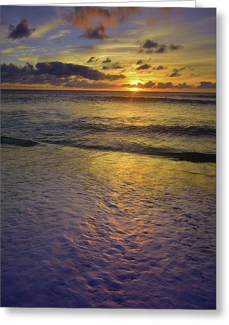 Greeting Card featuring the photograph The Sun Sets Softly In Molokai by Tara Turner