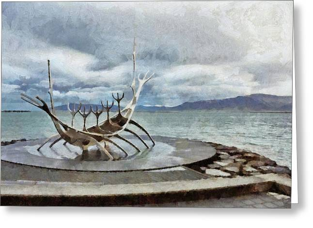 The Sun Voyager Greeting Card