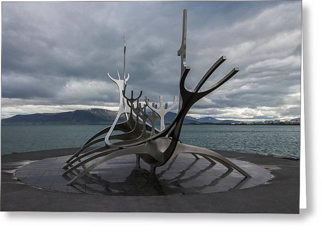 The Sun Voyager, Reykjavik, Iceland Greeting Card