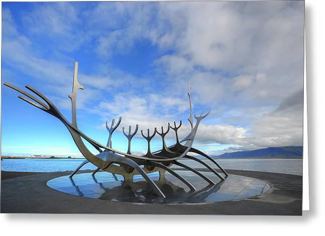 The Sun Voyager - Reykjavik Greeting Card