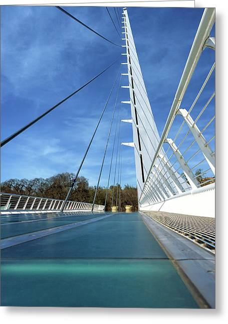 Greeting Card featuring the photograph The Sundial Bridge by James Eddy