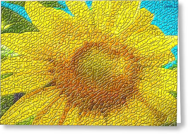 The Sunflower - Da Greeting Card by Leonardo Digenio