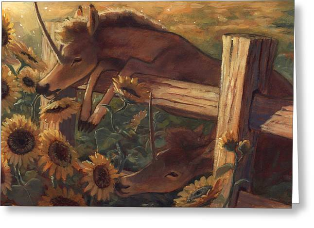 The Sunflower Thieves Greeting Card
