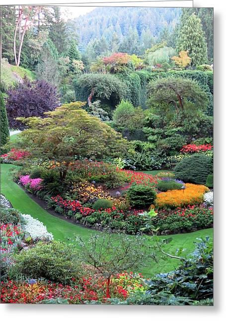 The Sunken Garden Greeting Card
