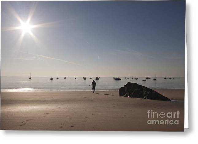 The Sunrise Greeting Card by Angel Ciesniarska