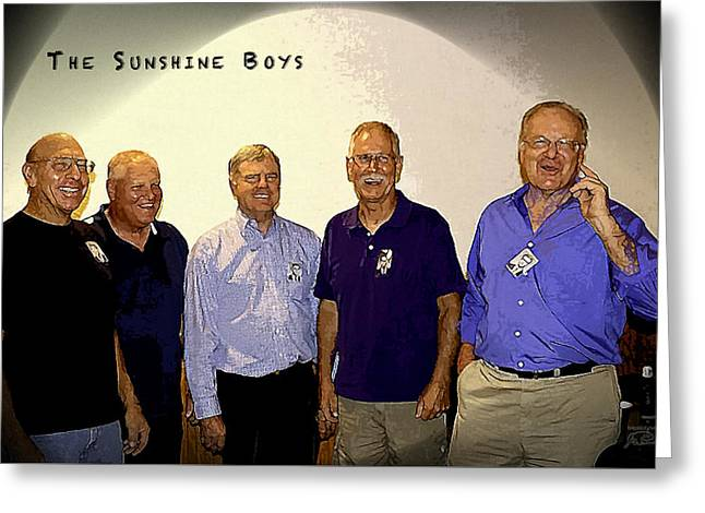 The Sunshine Boys Greeting Card by Joe Paradis