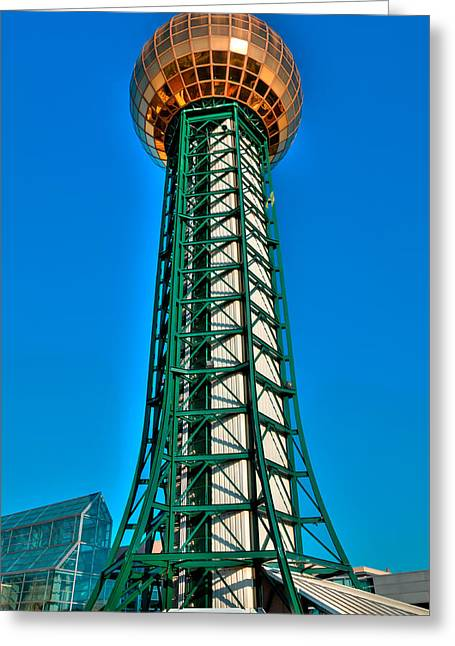The Sunsphere - Knoxville Tennessee Greeting Card by David Patterson