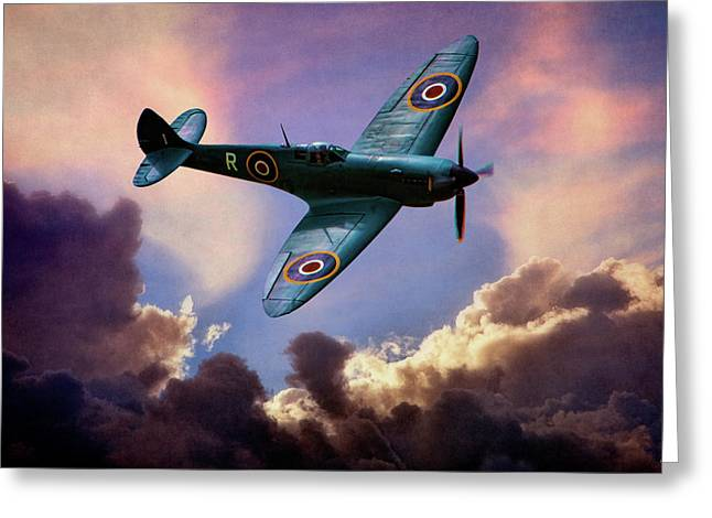 The Supermarine Spitfire Greeting Card by Chris Lord