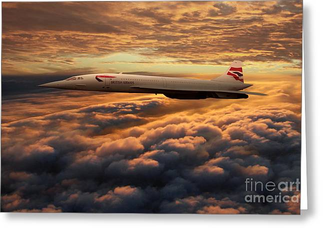 The Supersonic Concorde Greeting Card