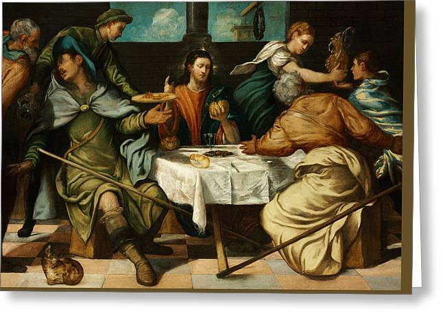 The Supper At Emmaus Greeting Card by Tintoretto